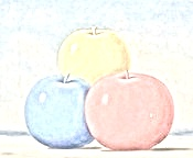 3 pommes from Magritte