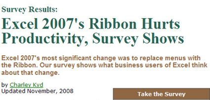 office ribbon survey